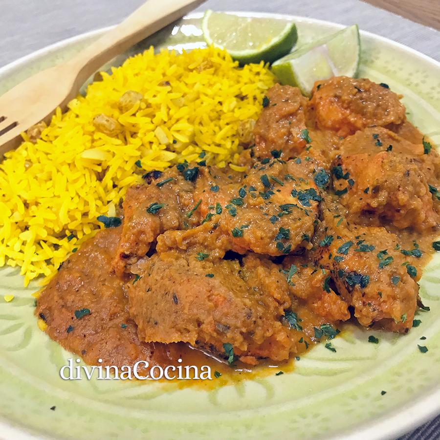 pollo estilo hindu tikka