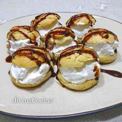 profiteroles-nata-chocolate
