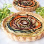 Quiche espiral de verduras