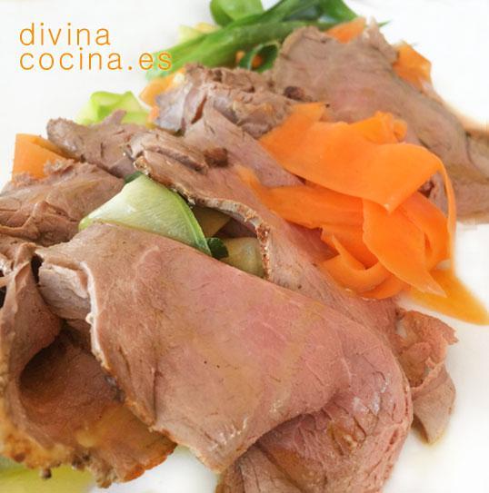Roast beef en Roast beef con piña
