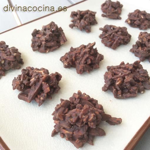 recetas de rocas de chocolate
