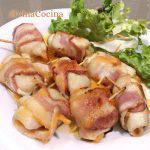 Rollitos de pollo, bacon y queso