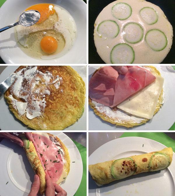 Receta de rollitos de tortilla divina cocina - Que hacer de cenar rapido y facil ...
