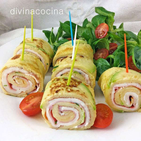 Rollitos de tortilla divina cocina for Comida rapida para invitados