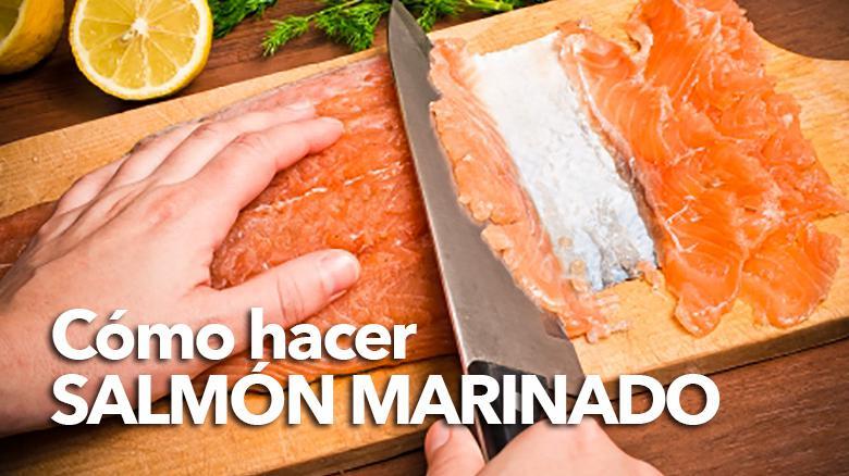 como hacer salmon marinado