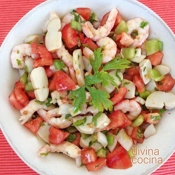 Receta de salpic n marinero divina cocina for Divina cocina canapes