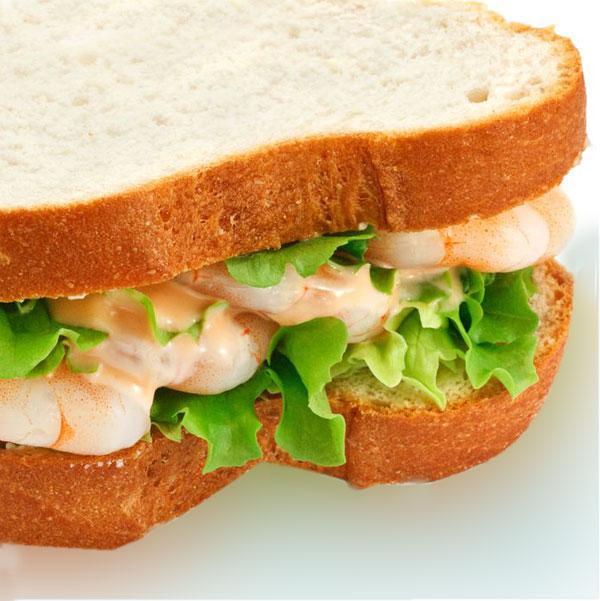sándwich de gambas