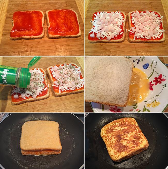 sandwich pizza paso a paso