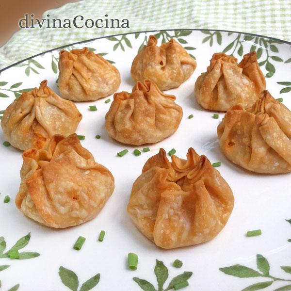 Saquitos de empanadillas en Empanadillas vegetales