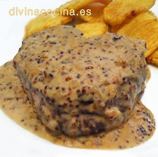 Solomillo a la mostaza divina cocina - Solomillo de ternera al horno con mostaza ...