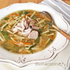 sopa-de-pollo-y-verduras-en-plato