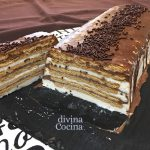 Tarta helada de galletas y chocolate