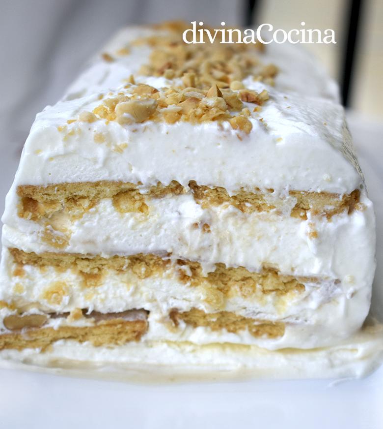 tarta helada de nata y nueces 2