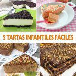 5 tartas infantiles fáciles