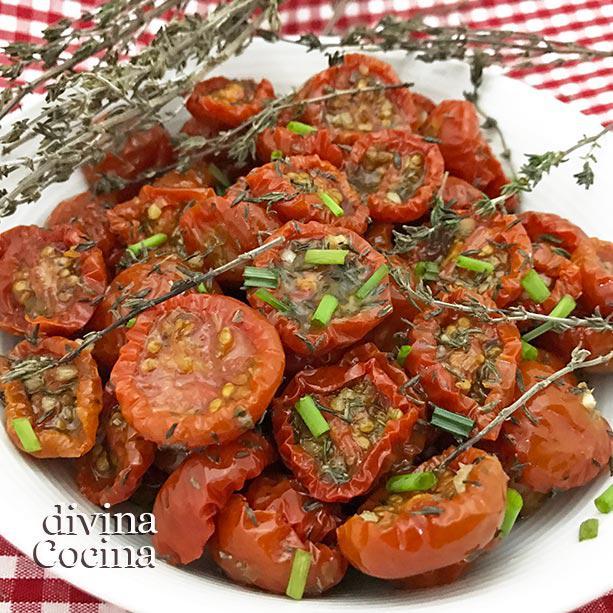 Tomatitos confitados