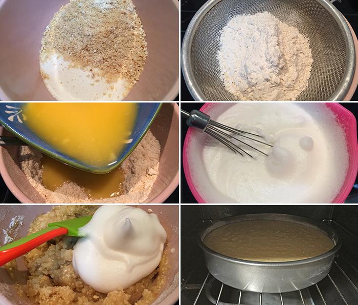 torta bizcocho avellanas paso a paso