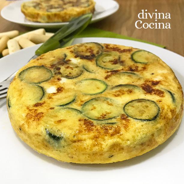 Tortilla de calabacines al queso en Calabacines al queso