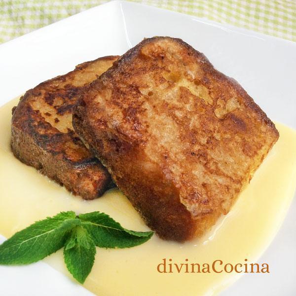 Tostadas francesas de bizcocho divina cocina for Menu frances tipico