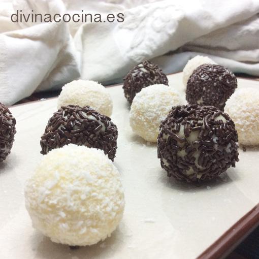 Baño Blanco De Azucar Receta:Trufas de chocolate blanco – Divina Cocina