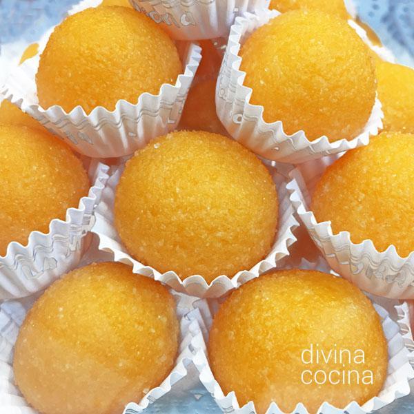 Yemas de naranja en Yemas de batata