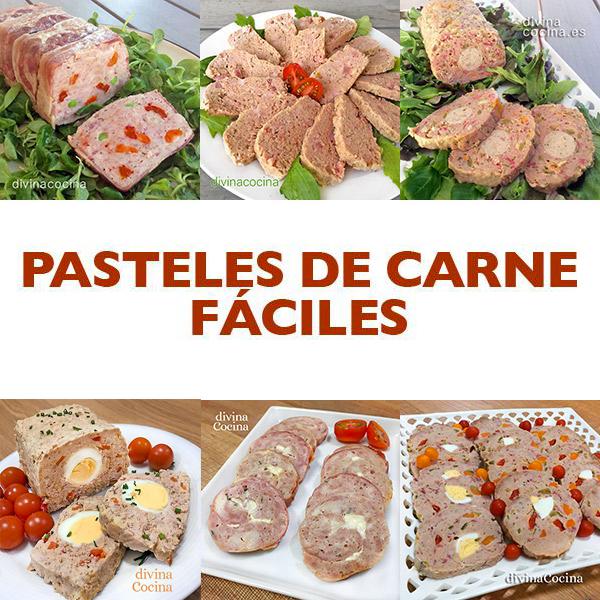 pasteles de carne faciles