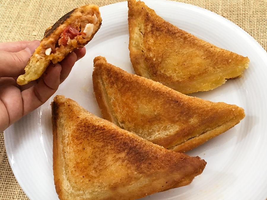 receta de empanadillas de pan de molde