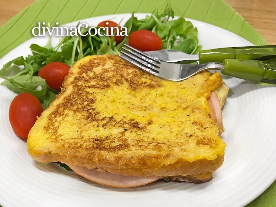 receta sándwich mixto rebozado