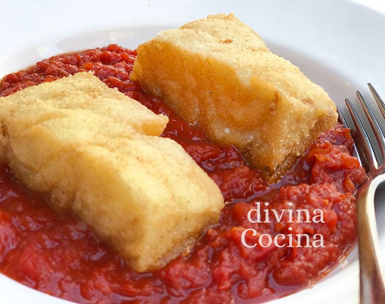 bacalao con tomate salsa