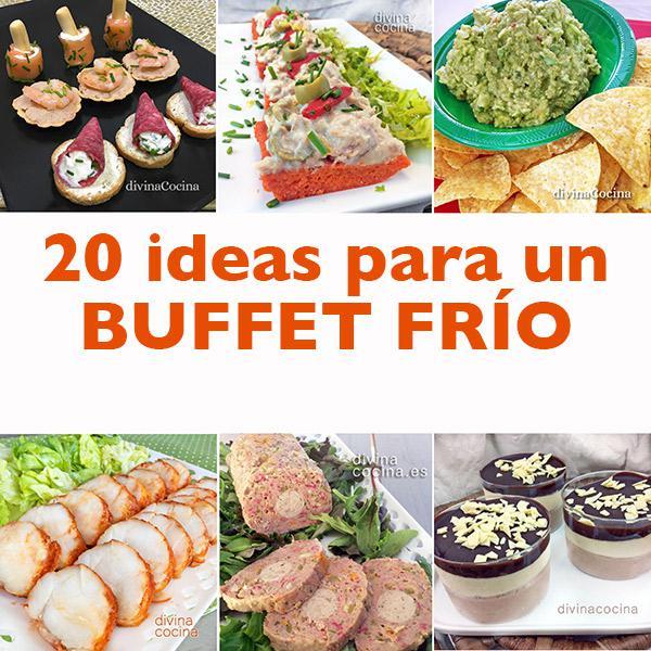 20 ideas para un buffet frío para invitados