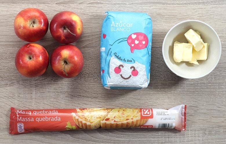tarta tatin de manzanas ingredientes