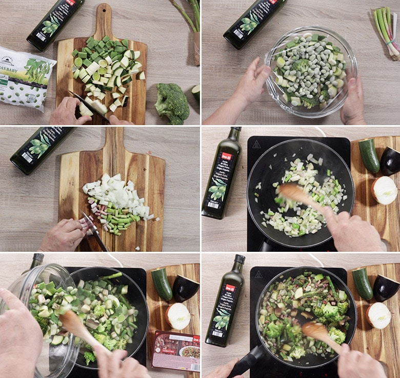 salteado verduras paso a paso