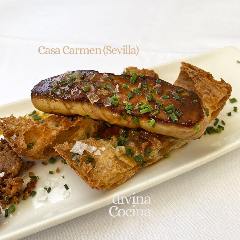 foie fresco plancha sarten
