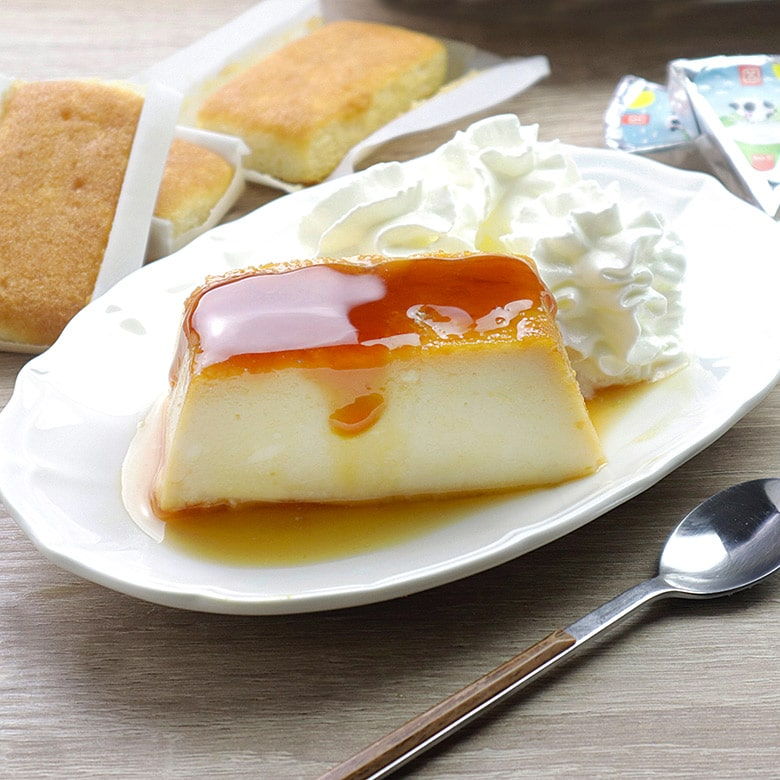 flan de sobaos y quesitos