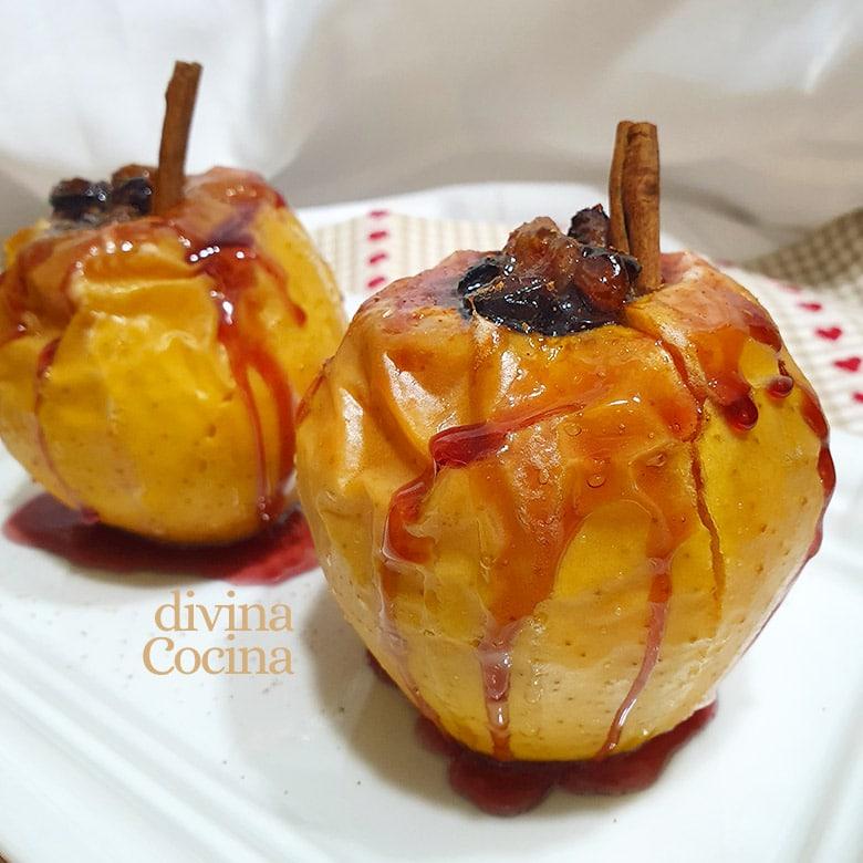 manzanas asadas al horno