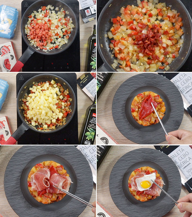 capricho patatas huevo paso a paso