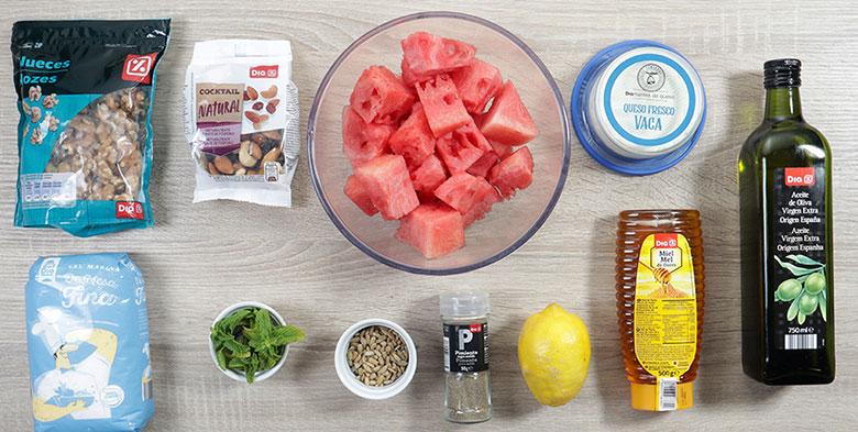 ensalada de sandía ingredientes