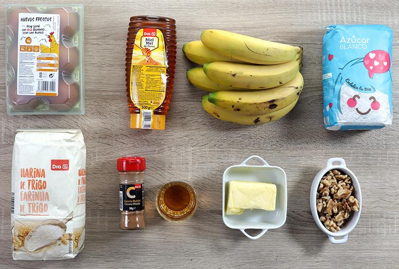 tortitas de platano ingredientes