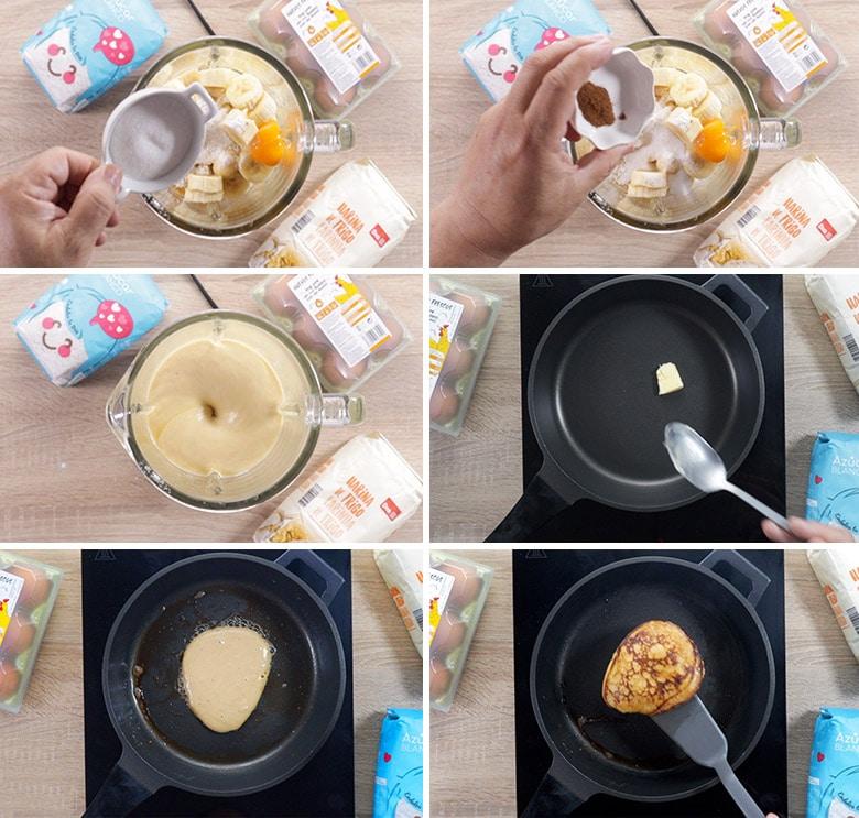 tortitas de platano paso a paso