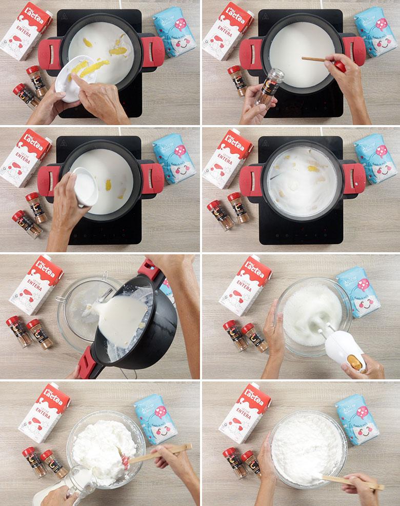 leche merengada paso a paso