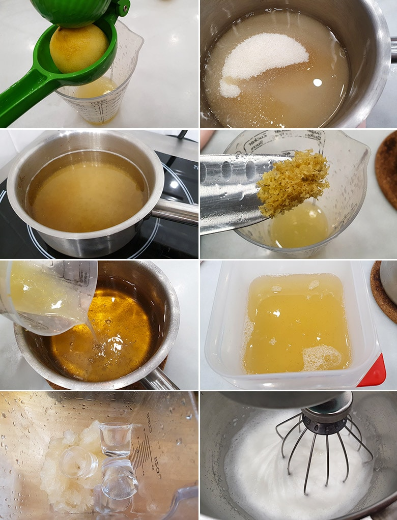 sorbete de limon paso a paso