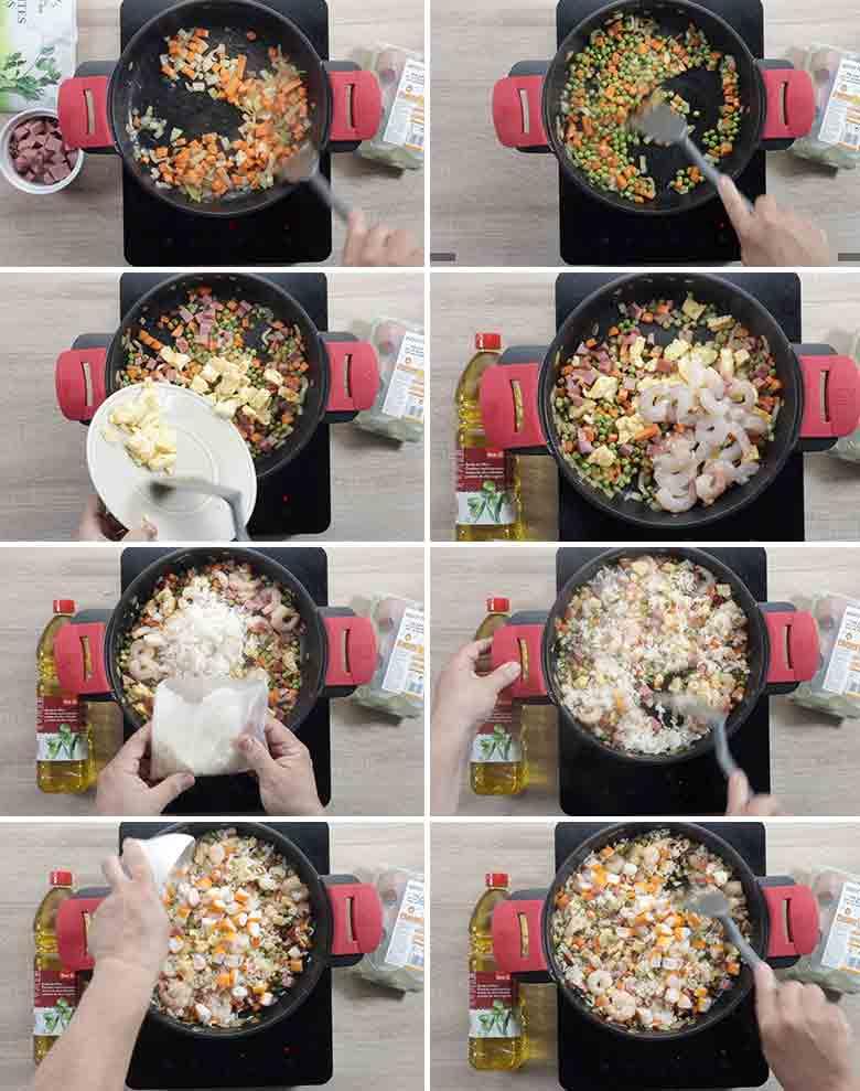arroz 3 delicias chino paso a paso