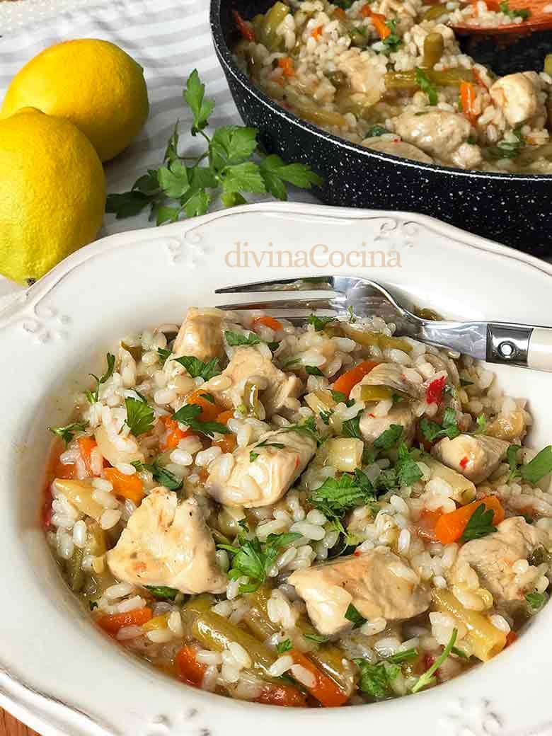 Arroz Con Pollo Y Verduras Receta De Divina Cocina