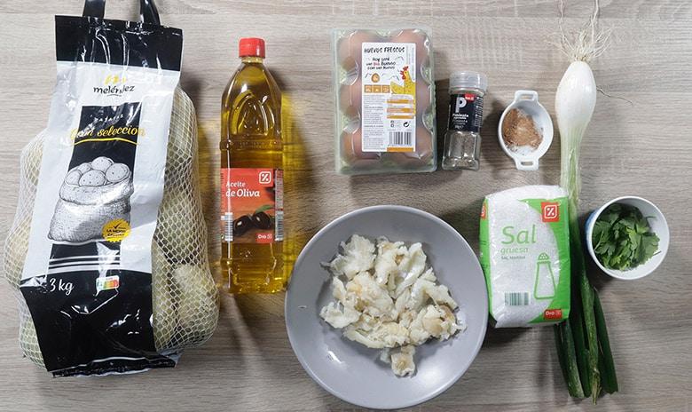 croquetas de patatas y bacalao ingredientes