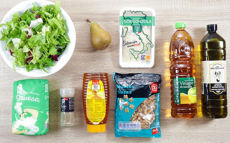 ingredientes ensalada pera gorgonzola
