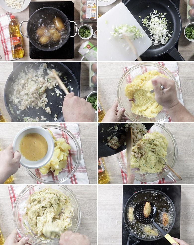croquetas patatas bacalao paso a paso