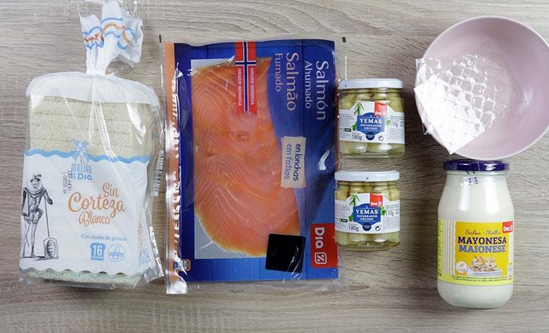 pastel de salmon esparragos ingredientes