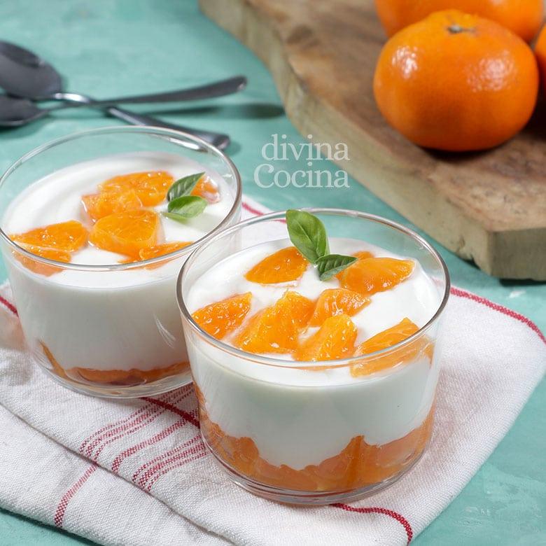 postre light de queso y yogur