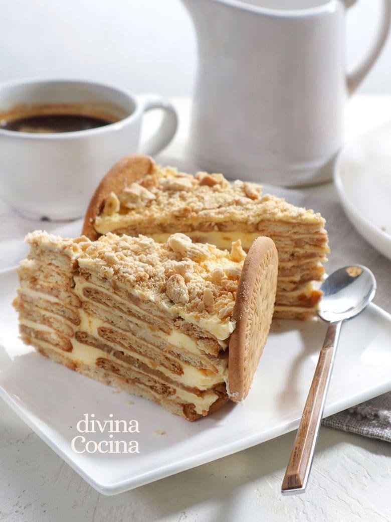 tarta de galletas portuguesa bolo de bolacha