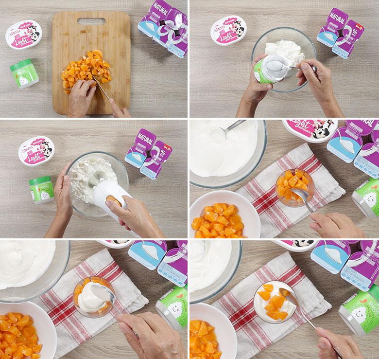 postre light queso yogur paso a paso
