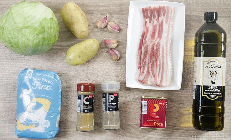 ingredientes trinxat de col